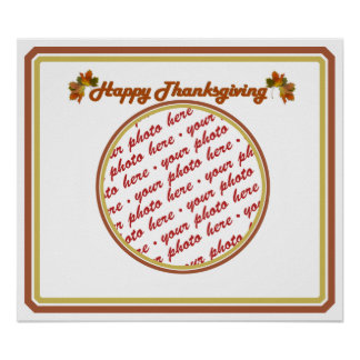 Happy Thanksgiving Text Design  Photo Frame Print