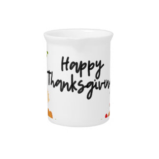 HAPPY THANKSGIVING, Thanksgiving Wreath, Cute Pitcher