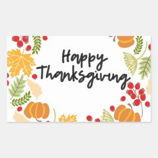 HAPPY THANKSGIVING, Thanksgiving Wreath, Cute Sticker