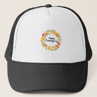 HAPPY THANKSGIVING, Thanksgiving Wreath, Cute Trucker Hat
