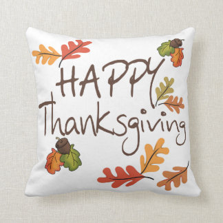 Happy Thanksgiving Throw Pillow