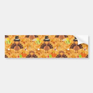 happy thanksgiving turkey bumper sticker