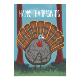 Happy Thanksgiving Turkey Card
