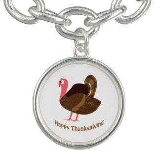 Happy Thanksgiving! Turkey Charm Bracelets