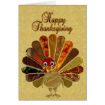 Happy Thanksgiving Turkey - Greeting Card