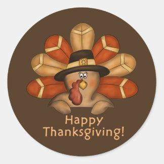 Happy Thanksgiving Turkey Holiday sticker