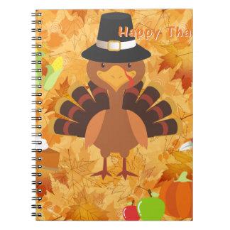 happy thanksgiving turkey notebook
