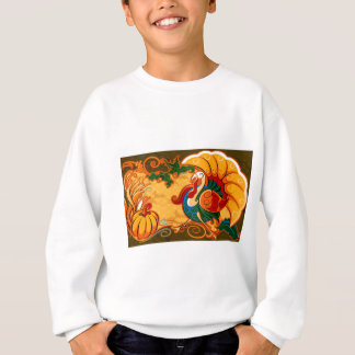 Happy Thanksgiving Turkey Pumpkin Sweatshirt