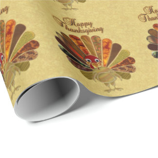 Happy Thanksgiving Turkey - Wrapping Paper