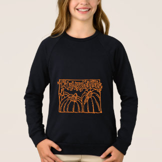 Happy Thanksgiving Typography Orange Pumpkins Sweatshirt
