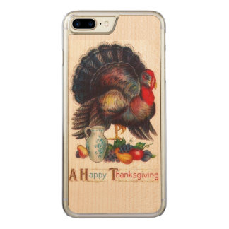 Happy Thanksgiving Vintage Carved iPhone 8 Plus/7 Plus Case