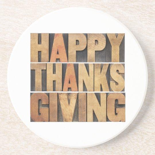 Happy Thanksgiving - Vintage Coaster
