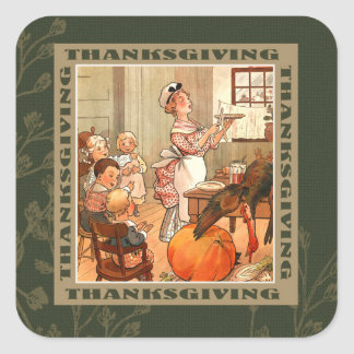 Happy Thanksgiving. Vintage Design Stickers