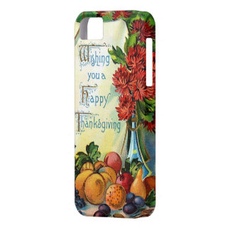 Happy Thanksgiving Vintage Fall Harvest Art Case For The iPhone 5