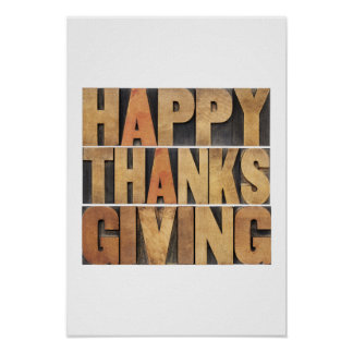 Happy Thanksgiving - Vintage Poster