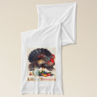Happy Thanksgiving Vintage Scarf