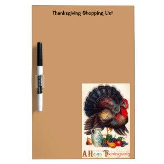 Happy Thanksgiving Vintage Turkey Dry-Erase Boards