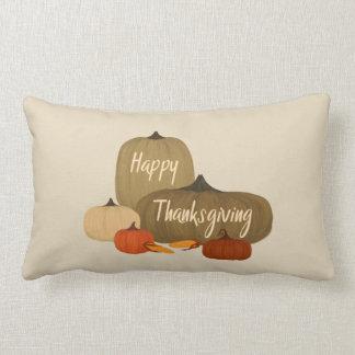 Happy Thanksgiving with Pumpkins Lumbar Pillow