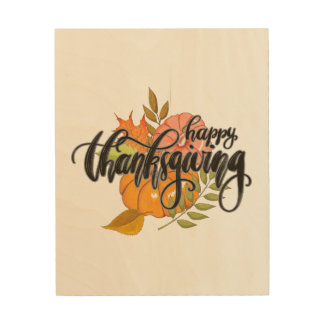 Happy Thanksgiving Wood Wall Decor