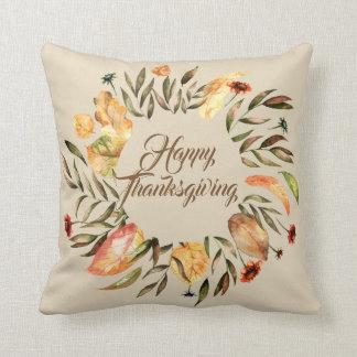 Happy Thanksgiving Wreath Pillow