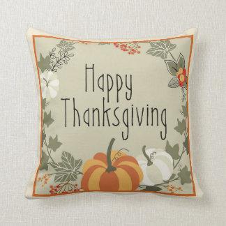 Happy Thanksgiving Wreath w/Pumpkin Pillow