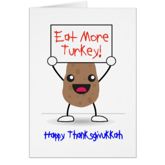 Happy Thanksgivukkah Card: Thanksgiving & Hanukkah Card