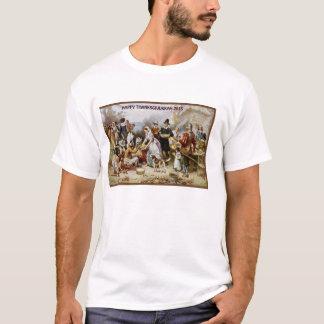 HAPPY THANKSGIVUKKAH JEWISH AMERICAN PRIDE PILGRIM T-Shirt