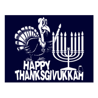 Happy Thanksgivukkah Monochrome Postcards
