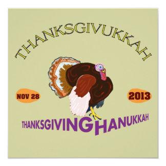 Happy Thanksgivukkah, Thanksgiving and Hanukkah Card
