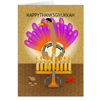 Happy Thanksgivukkah Turkey Card