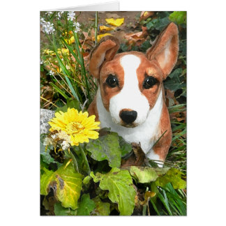 """Happy the Corgi"" Greeting Card"