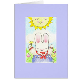 happy thought boy bunny card