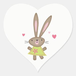 Happy Thoughts Bunny Heart Heart Sticker