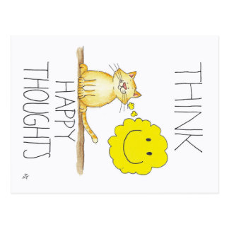 HAPPY THOUGHTS postcard by Nicole Janes