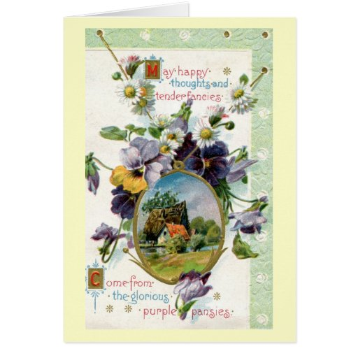 Happy Thoughts Tender Fancies 1915 Vintage Cards