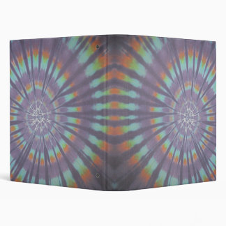 Happy Tie Dye Swirls Binder