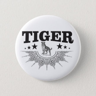 happy tiger 2 inch round button