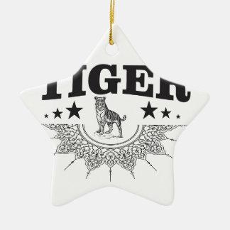 happy tiger ceramic ornament