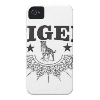 happy tiger iPhone 4 Case-Mate case