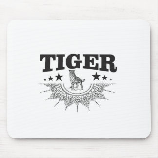 happy tiger mouse pad