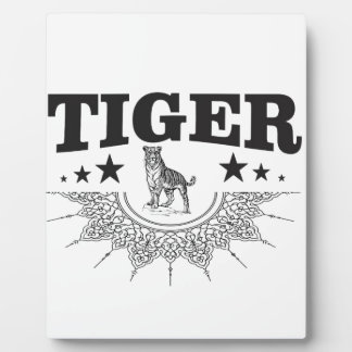 happy tiger plaque