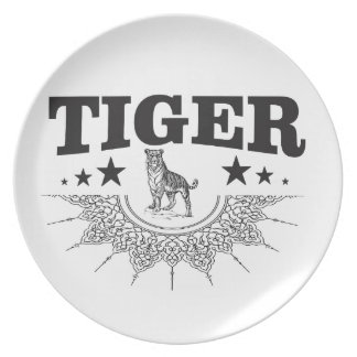 happy tiger plate