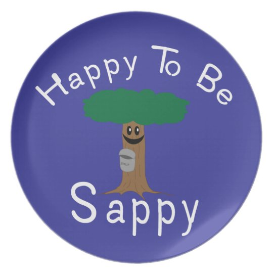 Happy to be Sappy Plate