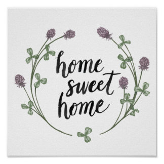 Happy to Bee Home Words I | Home Sweet Home Poster