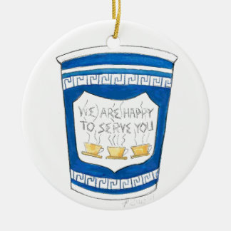 Happy To Serve You Coffee Cup Ornament