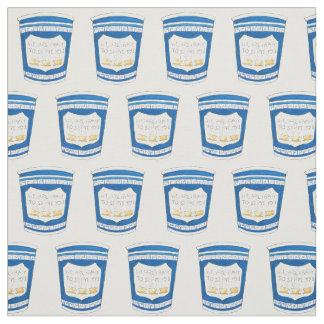 Happy To Serve You Greek Coffee Cup Fabric