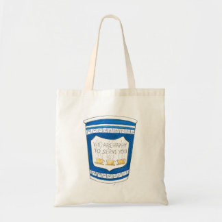 Happy To Serve You NYC Deli Coffee Cup Tote Budget Tote Bag