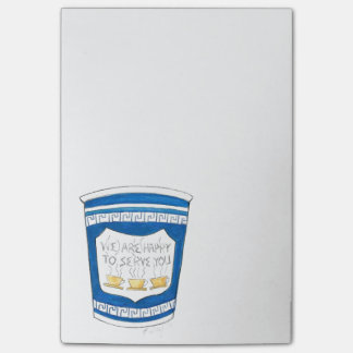 Happy to Serve You NYC Greek Coffee Cup Post Its Post-it® Notes