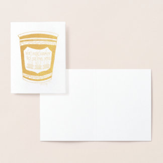 Happy to Serve You NYC Greek Diner Coffee Cup Foil Card