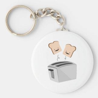 Happy Toaster Basic Round Button Keychain